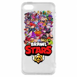 Чехол для iPhone5/5S/SE Brawl Stars all characters art