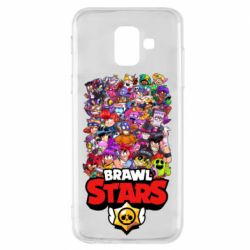 Чехол для Samsung A6 2018 Brawl Stars all characters art