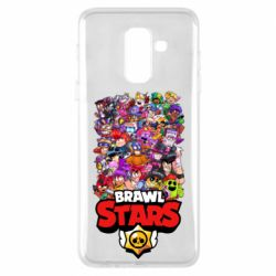 Чехол для Samsung A6+ 2018 Brawl Stars all characters art