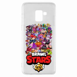 Чехол для Samsung A8+ 2018 Brawl Stars all characters art