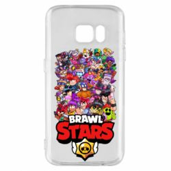 Чехол для Samsung S7 Brawl Stars all characters art