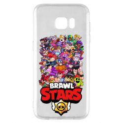 Чехол для Samsung S7 EDGE Brawl Stars all characters art