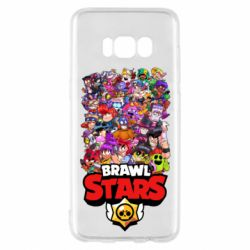 Чехол для Samsung S8 Brawl Stars all characters art