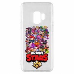 Чехол для Samsung S9 Brawl Stars all characters art