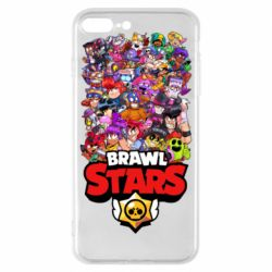 Чехол для iPhone 8 Plus Brawl Stars all characters art