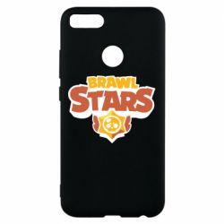 Чехол для Xiaomi Mi A1 Brawl Stars logo orang and yellow