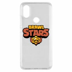 Чехол для Xiaomi Mi A2 Brawl Stars logo orang and yellow