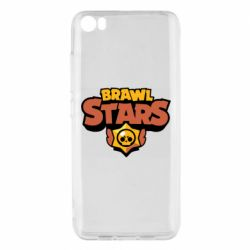 Чехол для Xiaomi Mi5/Mi5 Pro Brawl Stars logo orang and yellow