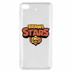 Чехол для Xiaomi Mi 5s Brawl Stars logo orang and yellow