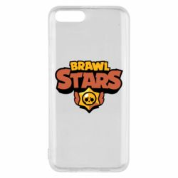Чехол для Xiaomi Mi6 Brawl Stars logo orang and yellow