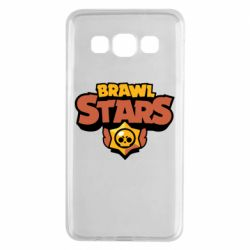 Чехол для Samsung A3 2015 Brawl Stars logo orang and yellow