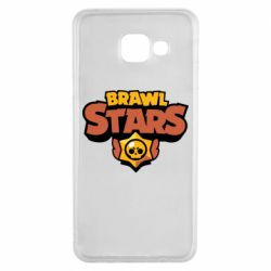 Чехол для Samsung A3 2016 Brawl Stars logo orang and yellow
