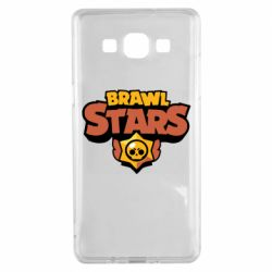 Чехол для Samsung A5 2015 Brawl Stars logo orang and yellow