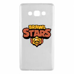 Чехол для Samsung A7 2015 Brawl Stars logo orang and yellow