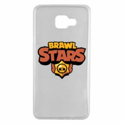 Чехол для Samsung A7 2016 Brawl Stars logo orang and yellow