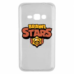 Чехол для Samsung J1 2016 Brawl Stars logo orang and yellow