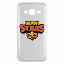 Чехол для Samsung J3 2016 Brawl Stars logo orang and yellow