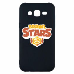 Чехол для Samsung J5 2015 Brawl Stars logo orang and yellow