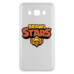 Чехол для Samsung J5 2016 Brawl Stars logo orang and yellow