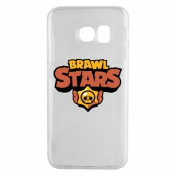 Чехол для Samsung S6 EDGE Brawl Stars logo orang and yellow