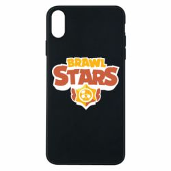 Чехол для iPhone Xs Max Brawl Stars logo orang and yellow