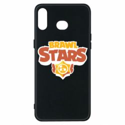 Чехол для Samsung A6s Brawl Stars logo orang and yellow