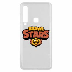 Чехол для Samsung A9 2018 Brawl Stars logo orang and yellow
