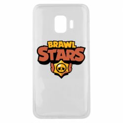 Чехол для Samsung J2 Core Brawl Stars logo orang and yellow
