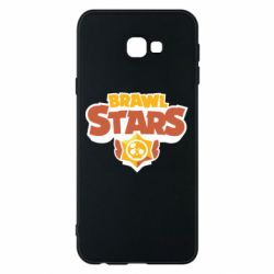 Чехол для Samsung J4 Plus 2018 Brawl Stars logo orang and yellow