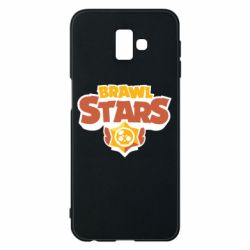 Чехол для Samsung J6 Plus 2018 Brawl Stars logo orang and yellow