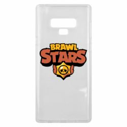 Чехол для Samsung Note 9 Brawl Stars logo orang and yellow