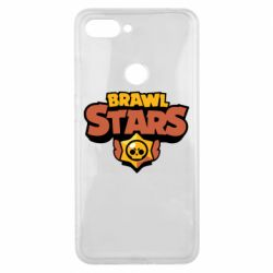 Чехол для Xiaomi Mi8 Lite Brawl Stars logo orang and yellow