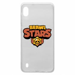 Чехол для Samsung A10 Brawl Stars logo orang and yellow