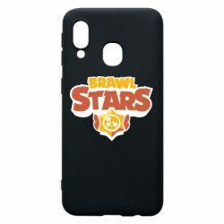 Чехол для Samsung A40 Brawl Stars logo orang and yellow