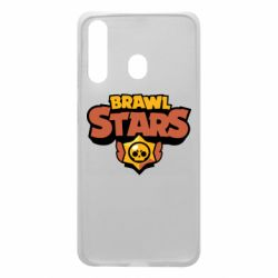Чехол для Samsung A60 Brawl Stars logo orang and yellow