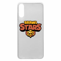 Чехол для Samsung A70 Brawl Stars logo orang and yellow