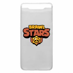 Чехол для Samsung A80 Brawl Stars logo orang and yellow