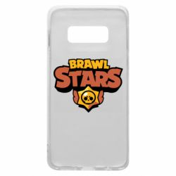 Чехол для Samsung S10e Brawl Stars logo orang and yellow