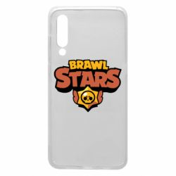 Чехол для Xiaomi Mi9 Brawl Stars logo orang and yellow