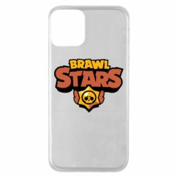Чехол для iPhone 11 Brawl Stars logo orang and yellow