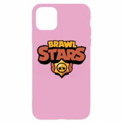 Чехол для iPhone 11 Pro Brawl Stars logo orang and yellow