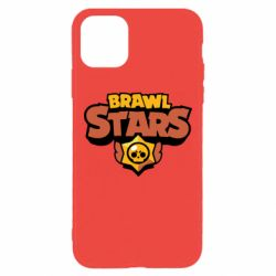 Чехол для iPhone 11 Pro Max Brawl Stars logo orang and yellow
