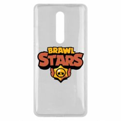 Чехол для Xiaomi Mi9T Brawl Stars logo orang and yellow