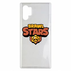Чехол для Samsung Note 10 Plus Brawl Stars logo orang and yellow