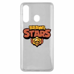 Чехол для Samsung M40 Brawl Stars logo orang and yellow