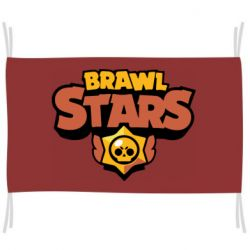 Флаг Brawl Stars logo orang and yellow