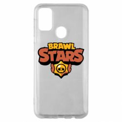 Чехол для Samsung M30s Brawl Stars logo orang and yellow
