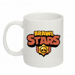 Кружка 320ml Brawl Stars logo orang and yellow