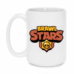 Кружка 420ml Brawl Stars logo orang and yellow