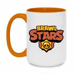 Кружка двухцветная 420ml Brawl Stars logo orang and yellow